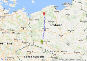 Strzegom (dolnośląskie) - Szczecinek (zachodniopomorskie)