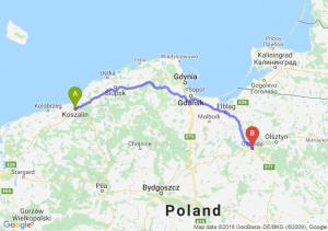 Trasa Koszalin - Ostróda