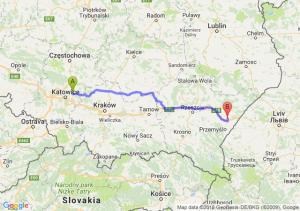 Trasa Dąbrowa Górnicza - Radymno
