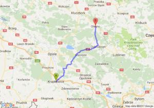 Krapkowice (opolskie) - Olesno (opolskie)