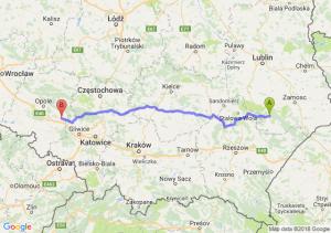 Trasa Biłgoraj - Strzelce Opolskie