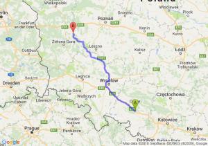 Trasa Dąbrówka Górna - Babimost