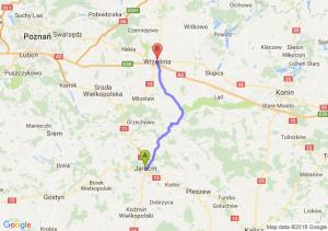 Trasa Jarocin - Września