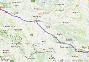 Trasa Sosnowiec - Bolesławiec