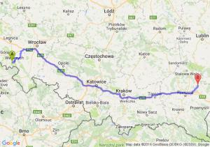 Boguszów-Gorce (dolnośląskie) - Leżajsk (podkarpackie)