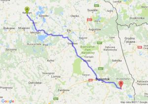 Kętrzyn (warmińsko-mazurskie) - Michałowo (podlaskie)