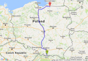 Nowy Targ (małopolskie) - Górowo Iławieckie (warmińsko-mazurskie)