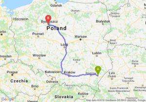 Trasa Jarosław - Białe Błota