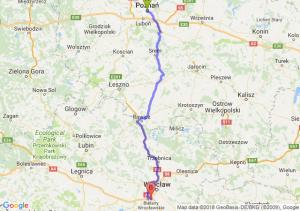 Trasa Poznań - Bielany Wrocławskie