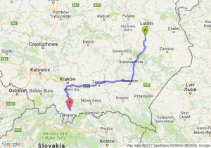 Bychawa (lubelskie) - Nowy Targ (małopolskie)