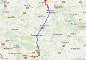 Trasa Dąbrowa Górnicza - Rzgów
