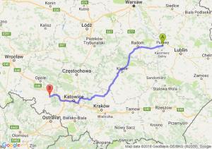 Trasa Puławy - Kędzierzyn-Koźle
