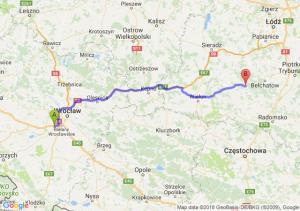 Trasa Biskupice Podgórne - Szczerców