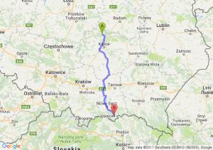 Stąporków (świętokrzyskie) - Krynica-Zdrój (małopolskie)