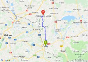 Trasa Cieszyn - Jastrzębie-Zdrój