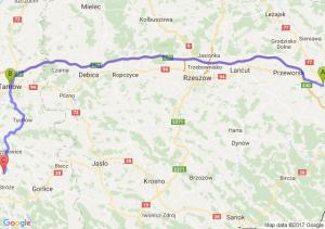 Jarosław (podkarpackie) - Tarnów (małopolskie) - Bobowa (małopolskie)