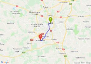 Trasa Łódź - Pabianice