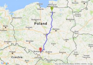 Trasa Dobre Miasto - Czerwionka-Leszczyny