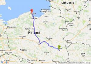 Lublin (lubelskie) - Reda (pomorskie)