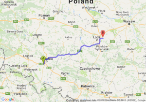Trasa Biskupice Podgórne - Brzeziny