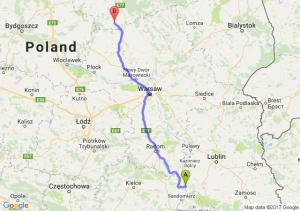 Annopol (lubelskie) - Działdowo (warmińsko-mazurskie)