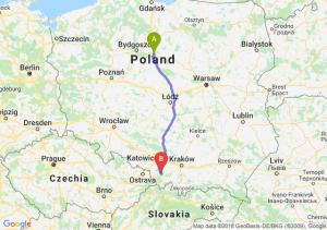 Trasa Lubicz Dolny - Bielsko-Biała
