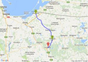 Braniewo (warmińsko-mazurskie) - Olsztyn (warmińsko-mazurskie) - Ameryka (warmińsko-mazurskie)