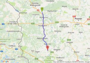 Trasa Skwierzyna - Nowe Miasteczko