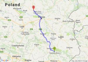 Stalowa Wola (podkarpackie) - Płońsk (mazowieckie)