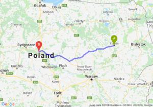 Trasa Łomża - Toruń