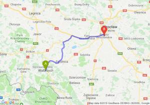 Trasa Wałbrzych - Bielany Wrocławskie