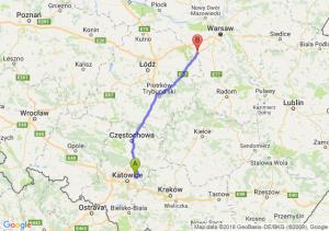 Trasa Dąbrowa Górnicza - Mszczonów