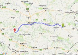 Lublin (lubelskie) - Kluczbork (opolskie)