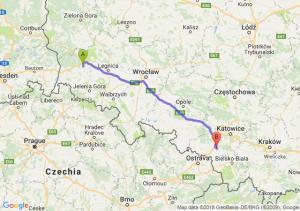 Trasa Bolesławiec - Żory