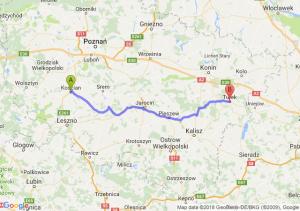Trasa Kościan - Turek