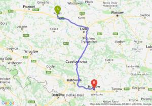 Trasa Konin - Kraków