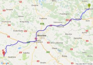 Ostrzeszów (wielkopolskie) - Świebodzice (dolnośląskie)