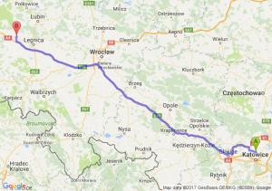 Siemianowice Śląskie (śląskie) - Chojnów (dolnośląskie)