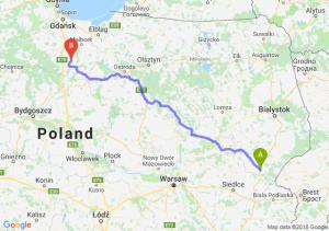 Trasa Siemiatycze - Gniew
