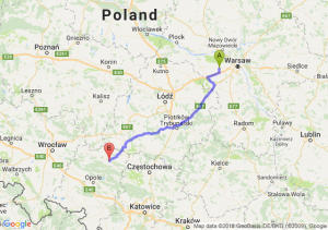 Trasa Błonie - Ligota Górna