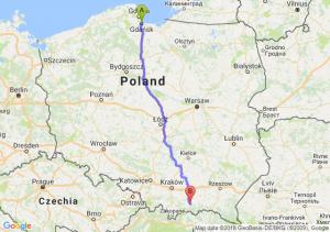 Gdańsk - Nowy Sącz
