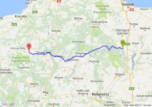 Skórcz (pomorskie) - Barwice (zachodniopomorskie)