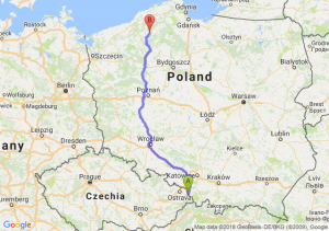 Trasa Cieszyn - Miastko
