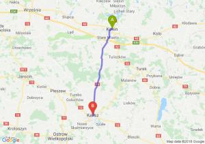 Trasa Konin - Kalisz