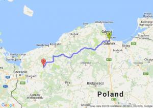 Trasa Gdańsk - Łobez
