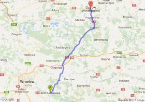 Jelcz-Laskowice (dolnośląskie) - Ostrów Wielkopolski (wielkopolskie)