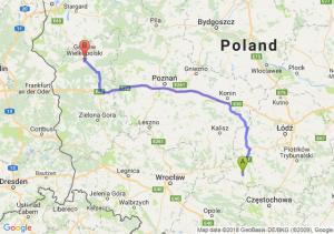 Trasa Wieluń - Gorzów Wielkopolski