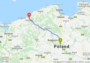 Trasa Toruń - Koszalin