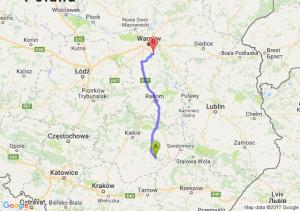 Staszów (świętokrzyskie) - Konstancin-Jeziorna (mazowieckie)