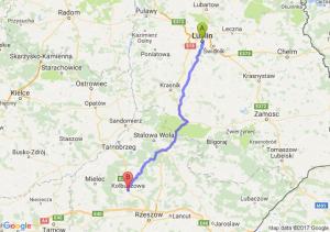Lublin (lubelskie) - Kolbuszowa (podkarpackie)